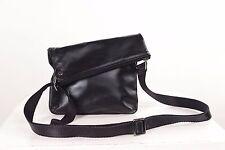 Homme noir bandoulière sac épaule messenger zip satchel sac de voyage fermeture éclair