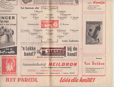 Programme / Programma Verl. Nederlands Elftal v London combination 21-03-1962