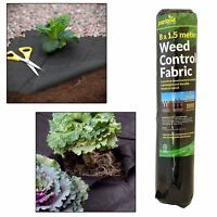 2/4/6 Weed Control Ground Cover Fabric Membrane 8m x 1.5m Suppressant Landscapin
