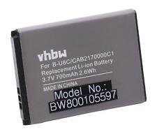 Akku für Alcatel One Touch OT-600, OT-600A, OT-660 700mAh 3.7V Li-Ion