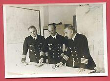 Original Pressefoto Generaladmiral Böhm bei einer Lagebesprechung 2.Weltkrieg