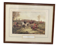 Hunting Print Breaking Cover Henry T Alken 1810-1894 Framed Equestrian Horse Dog