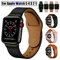 Genuine Leather Wrist Watch Band Strap For Apple iWatch Series 5 4 3 2 1 40/44mm
