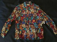 VINTAGE FLORAL SHIRT TOP BY SAMMI SIZE 18 BRAND NEW