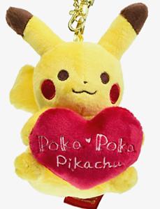 Japan Pokemon Center /Valentine's Day/ bag pendant Poka Poka Pikachu / heart