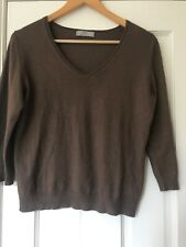 Marks and Spencer Jumper Espresso Brown Size 16 3/4 Length Sleeves