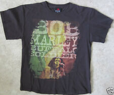 Lot of 3 BOB MARLEY Size Large T-Shirts ( 1 Brown, 2 Black )