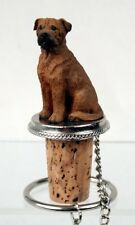 Bullmastiff Dog Hand Painted Resin Figurine Wine Bottle Stopper