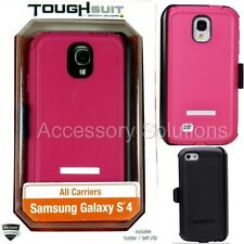 Body Glove Samsung Galaxy S4 Toughsuit Case Cover Pink W/ Holster, 9346502