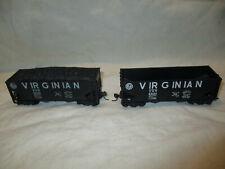 "Vintage HO scale ""Virginian"" 2 bay open hopper, group of 2"