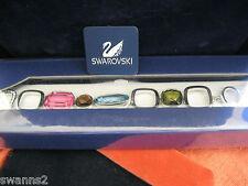 SWAROVSKI SWAN SIGNED COLORED CRYSTAL ILANA LINK TOGGLE BRACELET NEW IN BOX