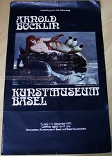 swiss EXHIBITION POSTER 1977 - ARNOLD BÖCKLIN - 150th ANNIVERSARY NUDE MODEL