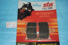 2 plaquettes de frein Arr. SBS Suzuki GSXR 600 750 1000 GSX 1400 GSF 650 BANDIT