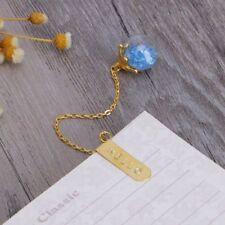 Metal Fashion Pendant Creative Chain Bookmark Markers Gold Gift Bookmark