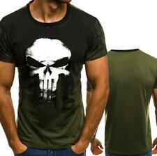 Hot! New Fashion Punisher Skull Print Short Sleeve T-Shirt Casual Tops Tee