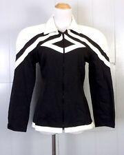 vtg Lillie Rubin ladies Full Zip Faux Leather Ultra Suede Geometric Jacket 36