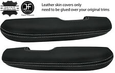 GREY STITCH 2X DOOR HANDLE ARMREST LEATHER COVERS FITS FORD MUSTANG 1967-1968