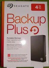 4TB - Seagate Backup Plus Portable External Hard Drive Disk USB 3.0 Black NEW FS