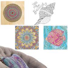 Conjunto De 2 decalques de Arte de parede: atividade De Colorir Mandalas Ou Mar Oceano Concha Seashell