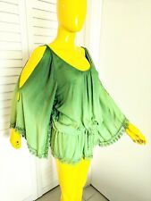 LOVE TOKEN Boho Tunic Blouse Hand Dyed Size S NWT Retail $95.00!!