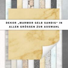 Fliesenaufkleber Dekor Marmor Gelb Sandig | Für Küche und Bad | alle Größen