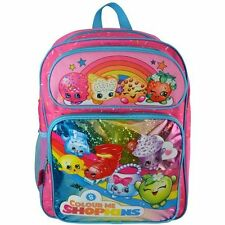 "Licensed Moose Shopkins Girl's 16"" Canvas Pink School Backpack"