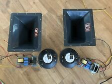 Pair 2 x Celestion CD2-3065 EV HP64 Horns & HiQ Crossovers Re-Badge B&C DE85