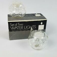 Vintage Set of 2 Water Light Handblown Glass Votive Candle Holder #2300 ©1983