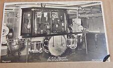 Postcard Battle Cruiser HMS Renown Trophy Room 1930's unposted
