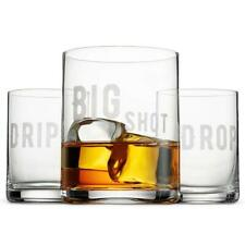 Double Dram Big Shot Drip Drop 3-glass Drinkware Gift Set FAST SHIP! T7