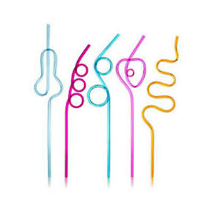Crazy Loop Straws Crazy Silly Colorful Reusable Drinking Straw Flexible Plastic