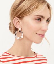 dangle earrings! Sold Out! New$34.50 J.Crew Factory Floral tortoise hoop