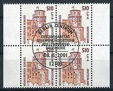 Bund 2225 Viererblock gestempelt Vollstempel Berlin ETSST VB used