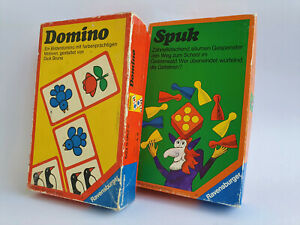 Domino Spuk Gesellschaftsspiel Otto Maier Verlag Ravensburg 1974 1976 Vintage