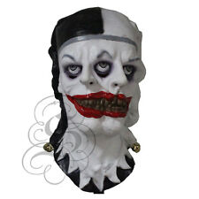 Halloween Demone Spaventoso PSYCHO due Viso Evil Clown Horror Abito in lattice Party maschere