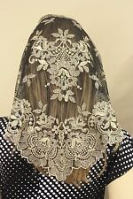 Gold Black Spanish style veils and mantilla Catholic chapel lace - large