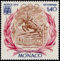 """MONACO N° 893 """" JO EQUITATION , SAUT D'UNE STATIONATA, 1 F 40"""" NEUF xx TTB"""
