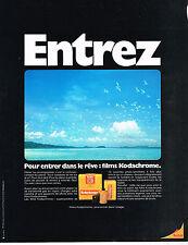 PUBLICITE ADVERTISING 014   1971   KODAK   films KODACHROME