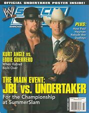 "2004 Smackdown Magazine Sept Issue : ""JBL vs Undertaker"" Cover NO Poster {126}"