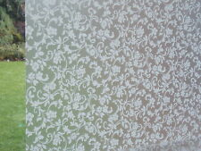 WHITE FLOWER FROSTED PRIVACY GLASS STATIC CLING WINDOW COVERING SELF ADHESIVE