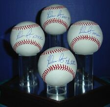 Nolan Ryan 4 Autographed Baseballs W/Inscription's & Display Case