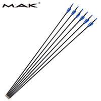 6pcs 31 Inch Archery Hunter Carbon Fiber Hunting Arrows Fit Recurve bow Sports