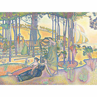 Henri-Edmond Cross Evening Air Painting XL Wall Art Canvas Print