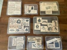 Stampin Up WOOD MOUNTED RUBBER STAMPS, new & used, U pick, buy more sets save $$