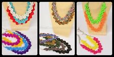 16 Fashion Seed Bead Braided Necklaces Costume Jewelry Wholesale BULK Lot USA