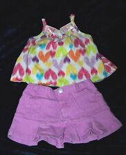 Girls 2 pc Size 12 Months Skirt and Top