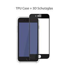 hülle iPhone 7 8 plus se 2020 Handy Case transparent Full Cover 3d Schutzglas iPhone se 2020