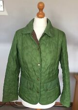 BARBOUR LADIES GREEN QUILTED FLOWER JACKET COAT SIZE 10 UK