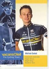 CYCLISME carte cycliste MICHAL GOLAS équipe VACANSOLEIL