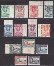 Gold Coast 1938-43 KGVI Christiansborg Castle Set Mint SG120a-132 cat £38
